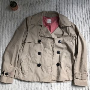 EUC Gap Cropped Trench coat